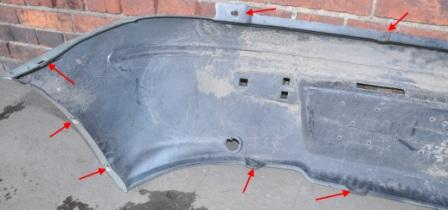 mounting points for the rear bumper Alfa Romeo 145 (146)