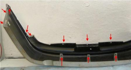 the attachment of the rear bumper of Buick Century (1997-2005)