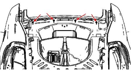 rear bumper mounting scheme Cadillac STS