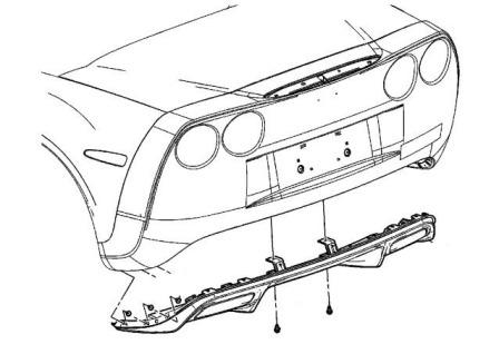 rear bumper mounting scheme Chevrolet Corvette (2004-2012)
