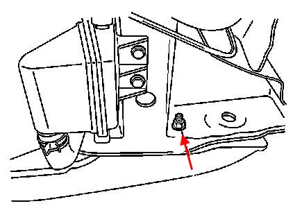 diagram of rear bumper Chevrolet Metro (1995-2001)