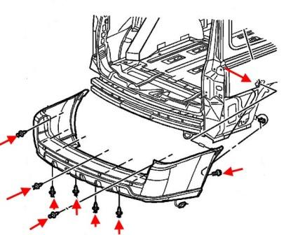 diagram of rear bumper Chevrolet Uplander