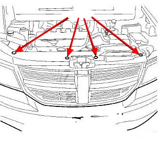 the scheme of fastening of a forward bumper Fiat Freemont