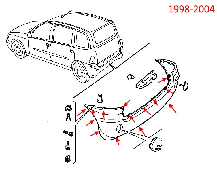 How to remove front and rear bumper    Fiat    Multipla