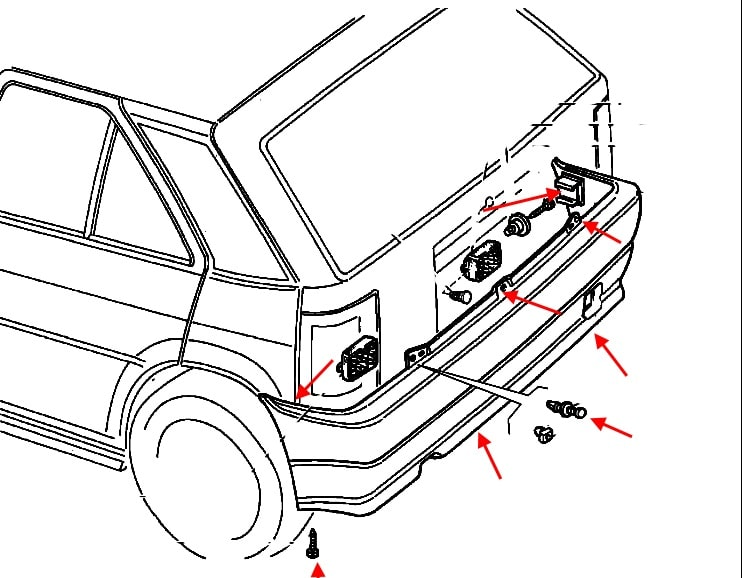 How To Remove Front And Rear Bumper Fiat Tipo  1988