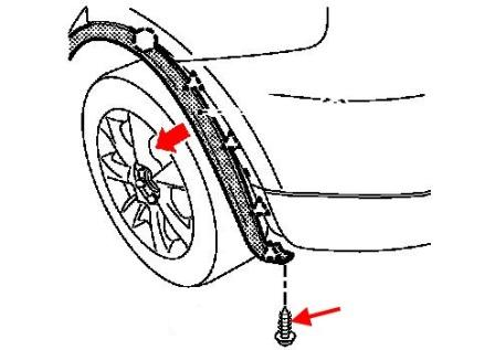 the scheme of fastening of the rear bumper Infiniti EX