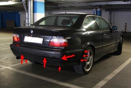 накладка бампера переднего правая после bmw e36 coupe