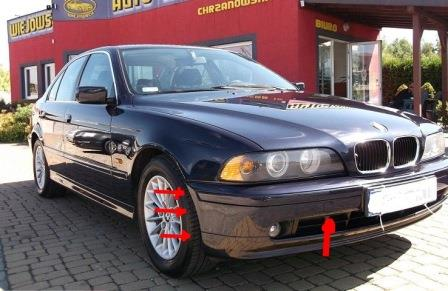 mounting points for the front bumper BMW 5-series E39