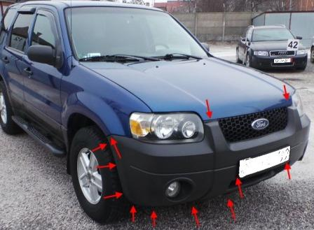 How To Remove Front And Rear Bumper Ford Escape 2001 2007 Onwards