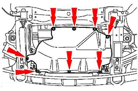 the scheme of mounting front bumper Ford Expedition II (2003 - 2006)