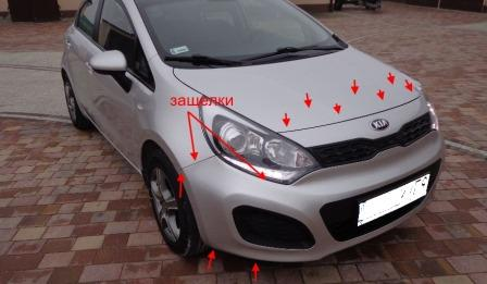 How To Remove Front And Rear Bumper Kia Rio Iii After 2011