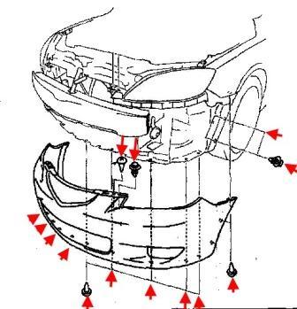 Мазда 3 схема бампера