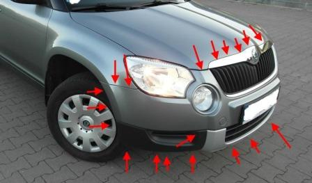 How To Remove Front And Rear Bumper Skoda Yeti
