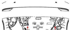 схема крепления заднего бампера Chevrolet Spark (Matiz)/ Daewoo Matiz (после 2010 года)
