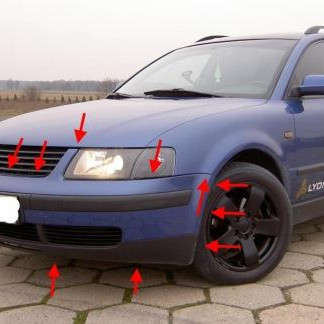 How to remove front and rear bumper VW PASSAT B5