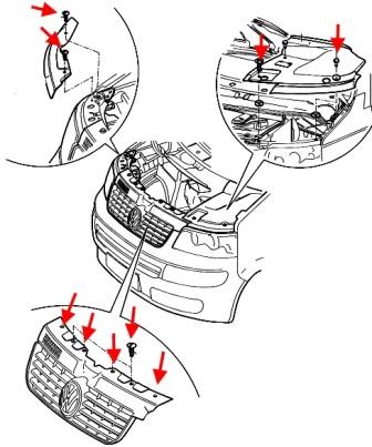Снять бампер на транспортер т5 объединяющие конвейеры