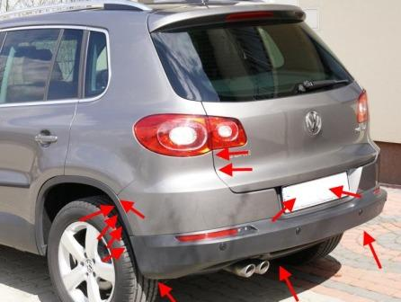 How to remove front and rear bumper VW TIGUAN